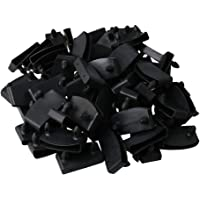 BQLZR Plastic Single End Caps Holders Replacement for Holding and Securing Wooden Slats on The Bed Base Pack of 50