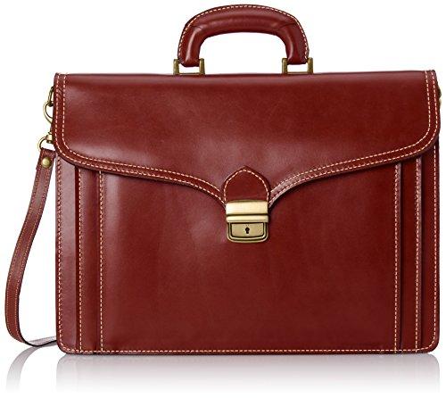 Uomo borsa di CTM lavoro, 41x 31x 18cm, vera pelle 100% Made in Italy Marrone