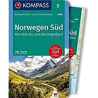 Norwegen Süd, Von Oslo bis zum Geirangerfjord: Wanderführer mit Extra-Tourenkarte 1:50.000-150.000, 75 Touren, GPX-Daten zum Download.: Wandelgids met overzichtskaart (KOMPASS-Wanderführer, Band 5980)