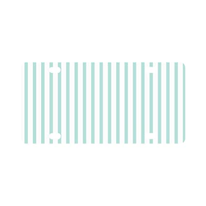62268884b887 Amazon.com: INTERESTPRINT Abstract Fashion Mint and White Strips ...