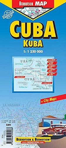 Kuba: 1:1 250 000. Einzelkarten: Cuba West 1:1 250 000. Cuba East 1:1 250 000. La Habana 1:16 000. Varadero 1:25 000. Playas del Este 1:22 000. ... administrative & Time Zones (Berndtson Maps)
