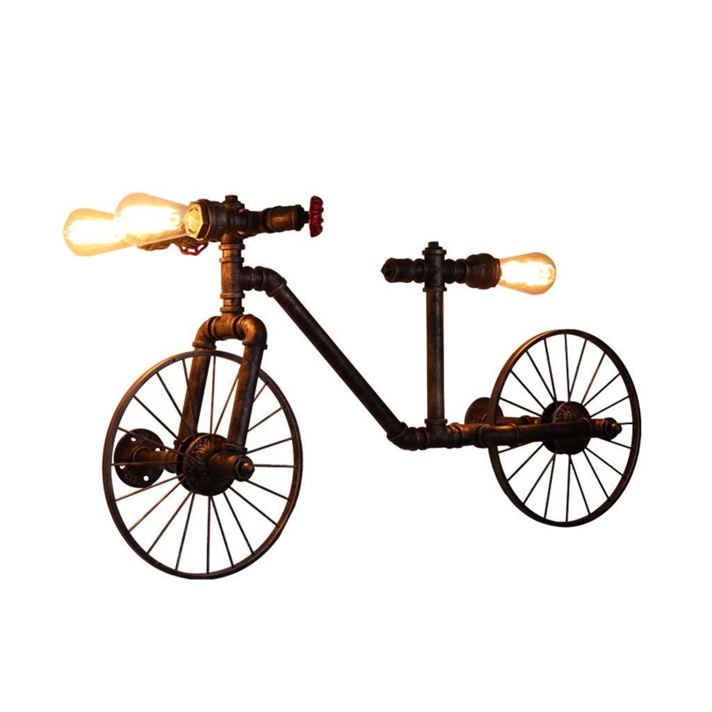 BXJ アメリカンレトロアイアンウォールランプカフェレストランバークリエイティブ自転車ホースウォールランプウォールランプ B07R7GH54H