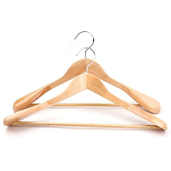 Amazon.com: LE Solid Wood Hanger,Suit Wide Shoulder Clothing Store Large Clothes Rack Wooden Wooden Wardrobe Hanger Home A 39.5x23.5x5.5cm(16x9x2inch): Home ...