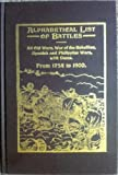 Alphabetical List of Battles, 1754-1900, Newton Allen Strait, 0810333392