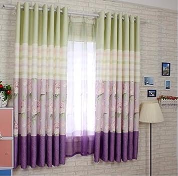 PEIWENIN Kinder Schlafzimmer Vorhänge modern fertig Wohnzimmer ...