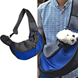 Pet Sling Carry Bag FLR Adjustable Comrfortable Washable Small Cat Dog Carrier Bag Pet Travel Bag Mesh Pouch for Puppy Dogs Cats