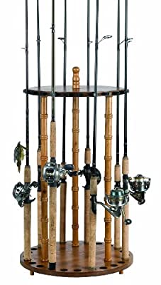 Organized Fishing Round Floor Rack for Fishing Rod Storage by Organized Fishing