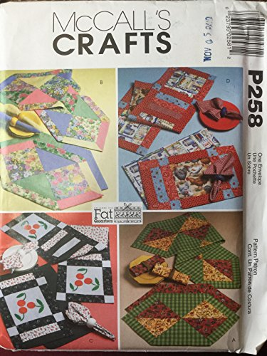 McCall's Crafts M4486 Fat Quarters Runners. Placemats and Napkins by The McCall Pattern Co