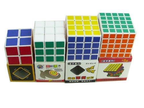 ShengShou 2x2x2 3x3x3 4x4x4 5x5x5 Cube Puzzle White image