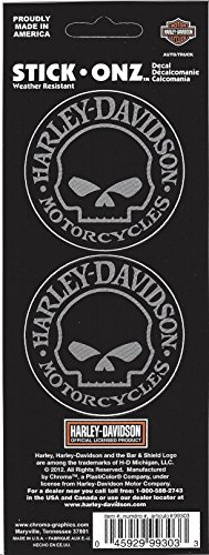 Harley Davidson Willie G. Skull Decals (Chroma Graphics Static Cling)