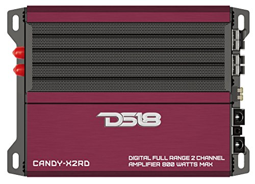 DS18 CANDY-X2RD Red 800 Watts Max Digital Full Range 2 Channel Class D Amplifier by DS18
