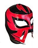 RAYMAN Adult Lucha Libre Wrestling Mask (pro-fit) Costume Wear - Black/Red