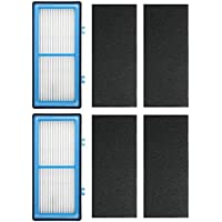 Ximoon 2 Pack Air Purifier HEPA Type Total Air Filters for Holmes AER1, HAPF30AT, HAP242-NUC Air Purifier Filter AER1 Series; 2 HEPA Filter + 4 Carbon Booster Filters