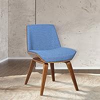 Armen Living LCAGSIBLUE Agi Mid-Century Side Chair