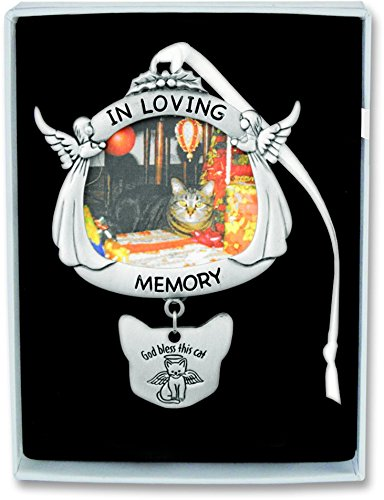 Cathedral Art CO736 In Loving Memory Angel Cat Frame Plaque with Hanger, 4-Inch High