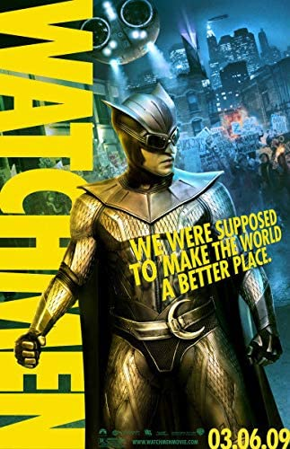 Watchmen 2009 S S Patrick Wilson Advance Rolled Movie Poster 11x17 At Amazon S Entertainment Collectibles Store
