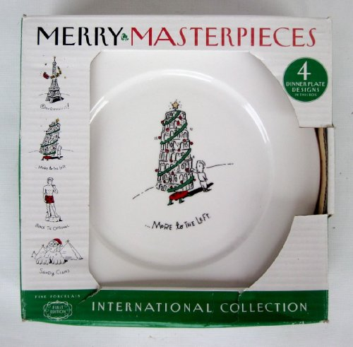 Merry Masterpieces International Collection 4 Dinner Plates