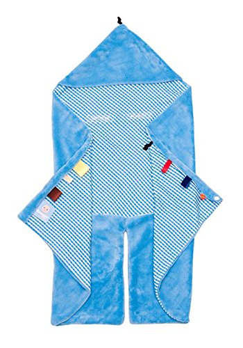 - Snoozebaby Trendy Wrapping Swaddle Blanket, Blue