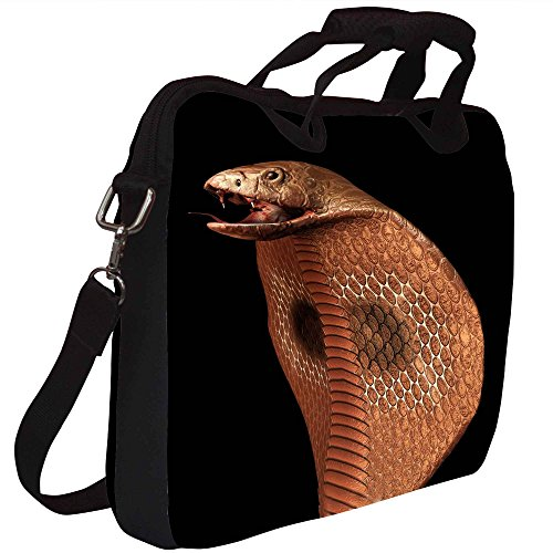 Snoogg Cobra Gedruckt Notebook-Tasche mit Schultergurt 15 bis 15,6 Zoll