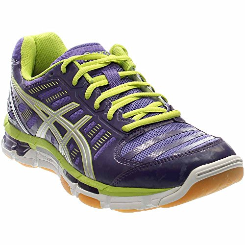 ASICS GelCyber ​​Shot Damen Volleyballschuh PURPUR / SILBER / LIME