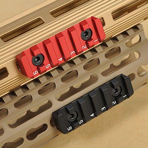 TuFok Keymod Picatinny Rail Section - M-Lok Rail Adapter Mou