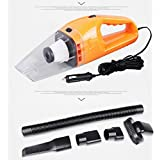 Enterest Portable 12V 120w Vacuum Cleaner For Car and Home Car Vacuum Cleaner Wet Dry High Power 16.4Feet(5M)Power Cord (Orange)