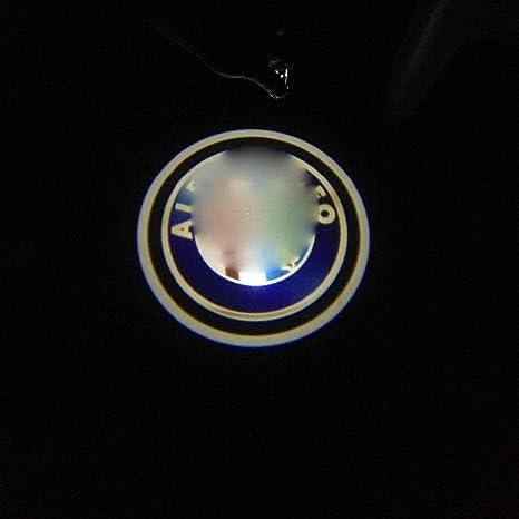 TDPQR 2 Piezas Puerta de Coche Luz de Logotipo LED,para Saab Puerta de Coche Ghost Luz de Sombra Logo Puerta Iluminaci/ón Entry Luz Proyecci/ón Luz Accesorios de decoraci/ón