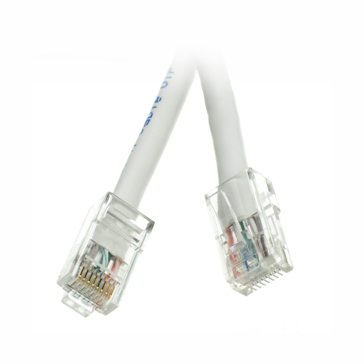 CNE71824 White CAT6 500MHz 100-Feet UTP Bootless Cable