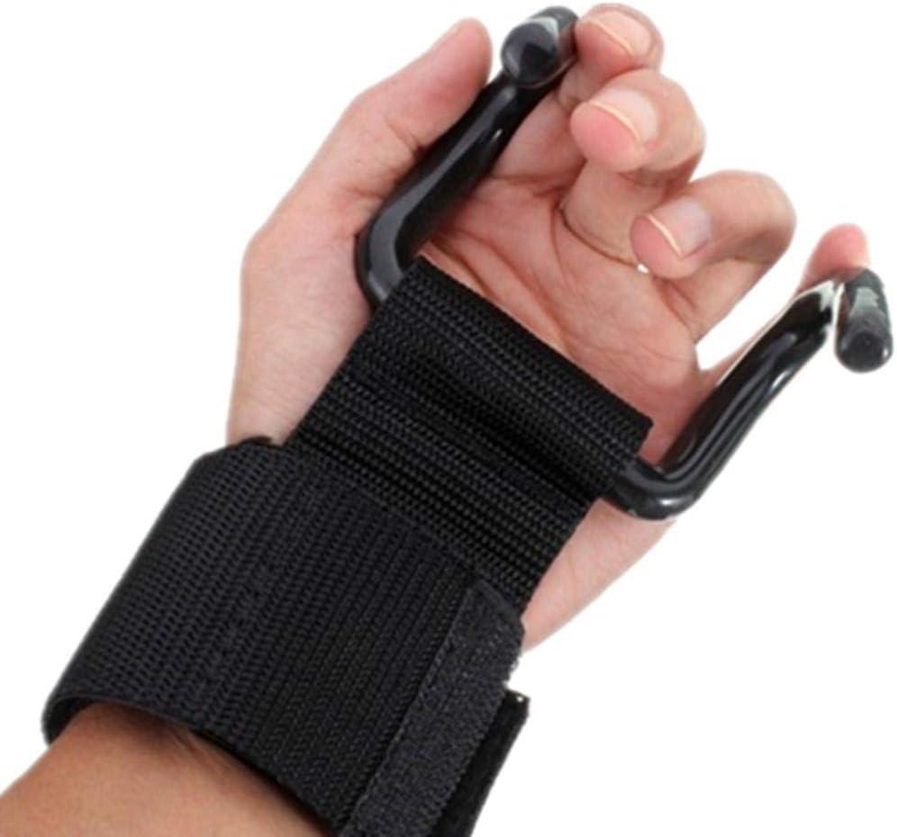 Palestra Sollevamento pesi Hook supporto per il polso Guanti allenamento della forza di presa di sollevamento pesi Up Bar Grips supporto per il training muscolare /& Exercise training muscolare