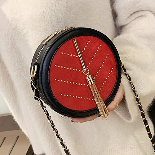 Rotonda Nera Donna Piccola Per Rosso Xmy Borsa Moda Tracolla A qPawAwxT0R