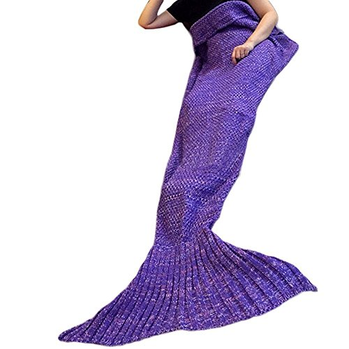 Casofu® Warm and Soft Mermaid Tail Blanket 7 diffenrent C...