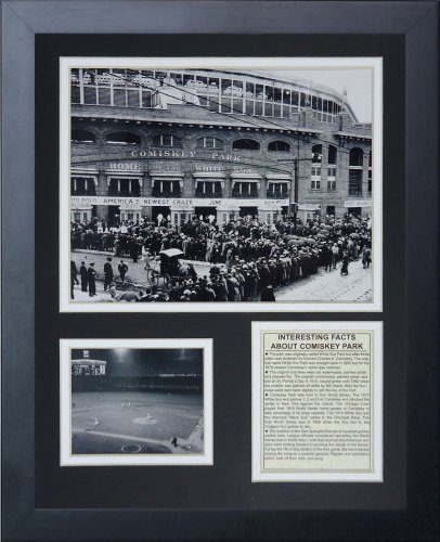 Legends Never Die 1913 Comiskey Park Framed Photo Collage, 11 x 14-Inch Sox Art Glass