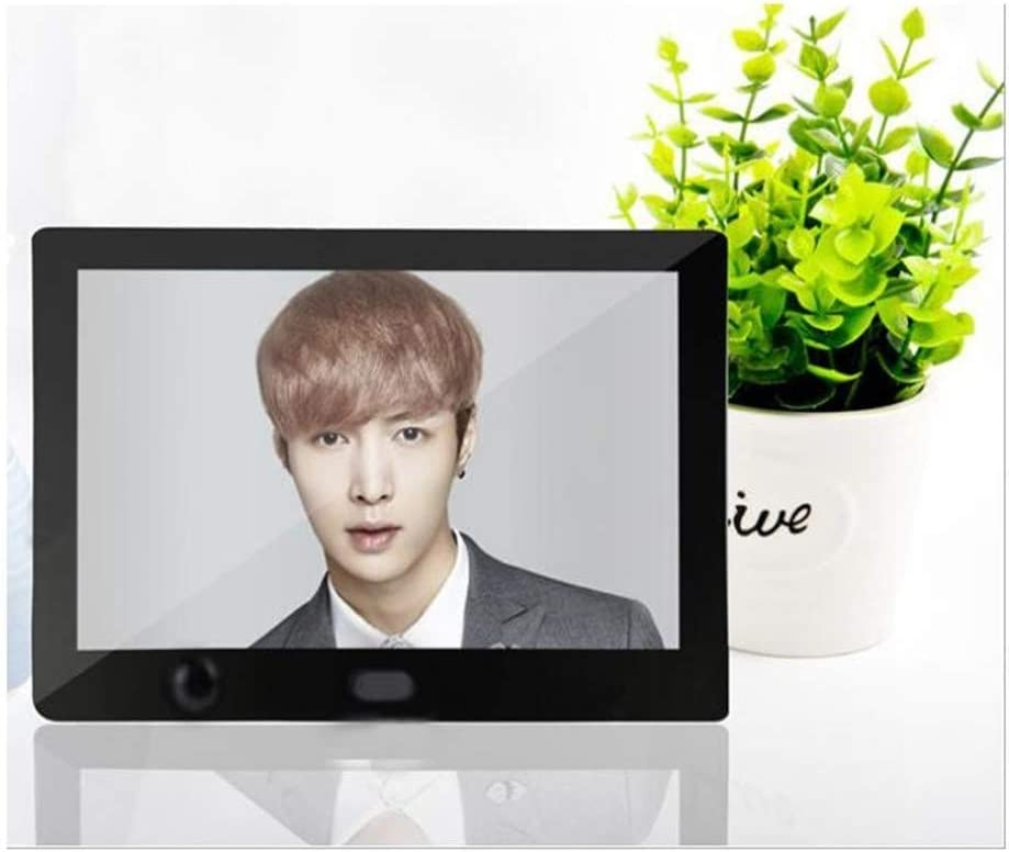 Color : Black Play Video Digital Picture Frames Digital Photo Frame 7 Inches Play Music with Slide Show with HU Motion Sensor Multiple Functions