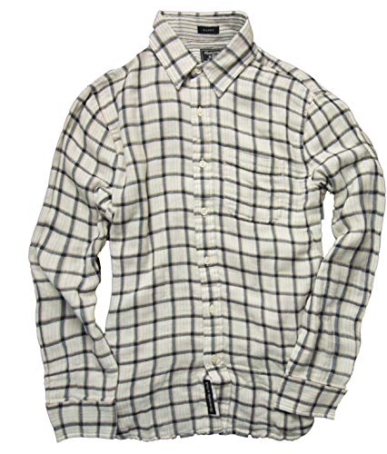 Abercrombie & Fitch Men's Button Down Shirt (Classic Fit Cream Check, S)