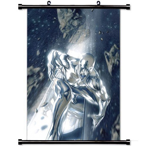 Silver Surfer Comic Art Poster Home Decor Wall Scroll Poster Fabric Painting 23.6 X 35.4 Inch (60cm X 90 - Fabric Painting Silver