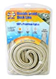 Invincible Marine 25-Foot Double Braid Nylon Dock Line, 1/2-Inch by 25-Feet, Gold by Invincible Marine