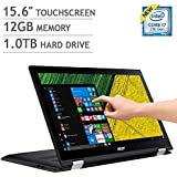 Acer Spin 3 15.6 FHD IPS(1920 x 1080) Multi-Touch 2-in-1 Laptop - Intel Core i7-7500U/12GB RAM/1TB HDD/Intel HD 620/Windows 10(Shale Black)