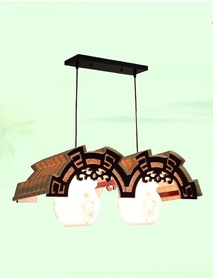 ZHANWEI Arañas Creativas,Lámparas de Techo Manual Bambú ...