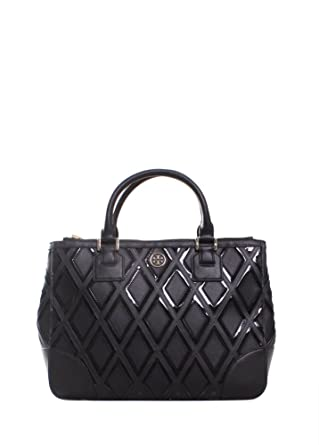 2d158955cfd Amazon.com  Tory Burch Robinson Patchwork Double Zip Tote 31139784 ...