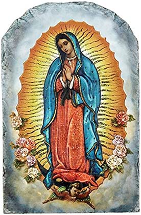 Catholic Divine Mercy Icon Tile Plaque with Stand, 8 1 2 Inch