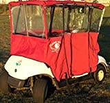 Clear Vision Cart Cover XL – Red