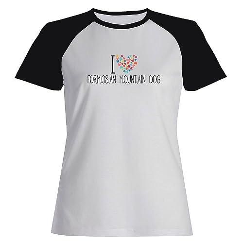 Idakoos love Formosan Mountain Dog Maglietta Raglan Donna