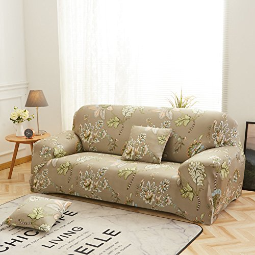 High Elasticity Furniture Protector,European slipcovers Anti-Slip Couch Cover All Season Sectional Sofa Throw pad for u-Shaped Sofa-F 2 Seater (5573inch)