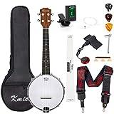 Banjo Ukulele Concert Size 23 Inch With Bag Tuner Strap Strings Pickup Picks Ruler Wrench Bridge From Kmise (Diamond Inlay)