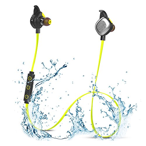 Morul U5PLUS Magnetic Sport Waterproof Bluetooth In-ear Headphones with Mic, Yellow