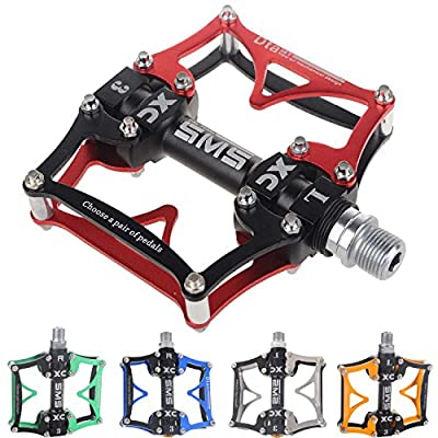 TRADE® 3 Bearing Road Mountain Bike Platform Pedals Flat Sealed Lubricate Bearing Axle 9/16 Inch