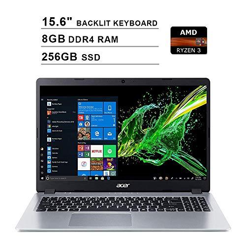 2020 Acer Aspire 5 15.6 Inch FHD 1080P Laptop (AMD Ryzen 3 3200U up to 3.5 GHz, 8GB DDR4 RAM, 256GB SSD, AMD Radeon Vega 3, Backlit Keyboard, WiFi, Bluetooth, HDMI, Windows 10 Home S)