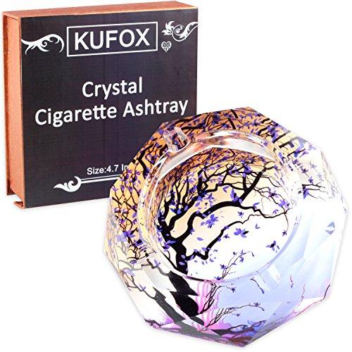 Kufox Crystal Cigarette Ashtray Ash Holder Case The Tree