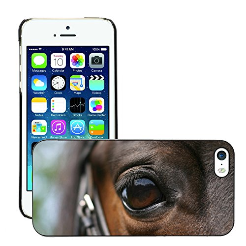 Premio Sottile Slim Cassa Custodia Case Cover Shell // V00002120 Cheval oeil // Apple iPhone 5 5S 5G