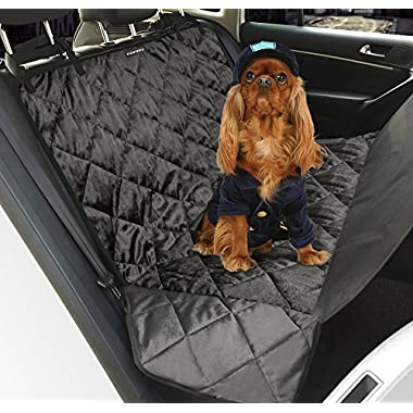 Dog Car Seat Covers,Topist Pet Seat Covers Hammock WaterProof & NonSlip Backing Cover with Pet Cat Car Seat Belt for Cars, Trucks, SUV's and Vehicles